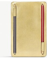Smythson - Panama Cross-grain Leather Zip Currency Case - Lyst