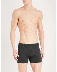 Hanro Slim-fit Stretch-cotton Trunks - Black