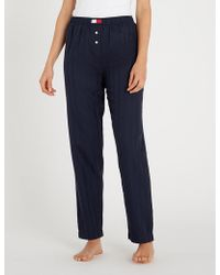 Tommy Hilfiger - Striped Cotton Pyjama Bottoms - Lyst