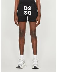 DSquared² Logo-print Cotton-jersey Shorts - Black