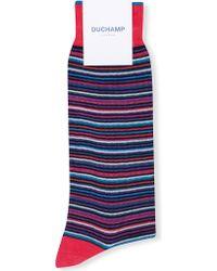 Duchamp - Stripe-print Cotton-blend Socks - Lyst