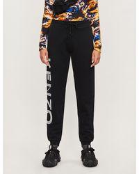 KENZO Logo-print Cotton-jersey jogging Bottoms - Black