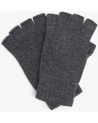 Johnstons Joe Fingerless Cashmere Gloves - Gray