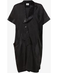 Vivienne Westwood - Arabesque Asymmetric Crepe Midi Dress - Lyst