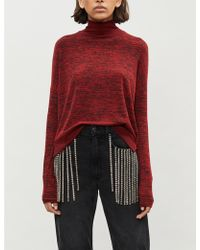 Rag & Bone Bowery High-neck Marled Knitted Jumper - Red