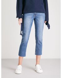 Cheap Monday - Revive Skinny High-rise Cropped Jeans - Lyst