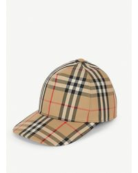 Burberry Logo Detail Vintage Check Baseball Cap - Natural