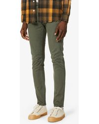 Neuw Lou Slim Straight Stretch-cotton Twill Jeans - Green