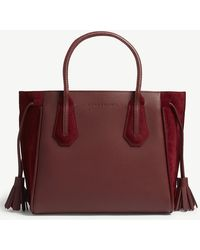 Longchamp - Pénélope Soft Leather And Suede Tote Small - Lyst