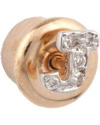 The Alkemistry - Kismet By Milka 14ct Rose-gold Diamond J Initial Stud Earrings - Lyst