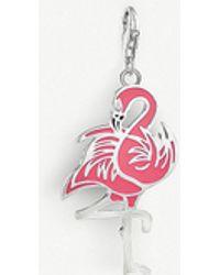 Thomas Sabo - Charm Club Enameled Sterling Silver Flamingo Charm - Lyst