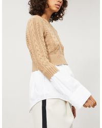 KENZO - Layered Wool And Cotton Jumper - Lyst