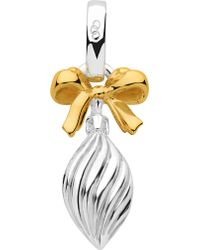 Links of London Sterling Silver And 18ct Gold Vermeil Drop Bauble Charm - Black