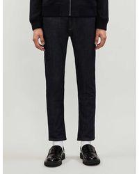 Sandro Skinny Raw Slim-fit Jeans - Blue