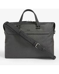 Tumi Gates Slim Canvas Briefcase - Grey