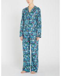 Derek Rose - Brindisi 34 Silk Pyjama Set - Lyst
