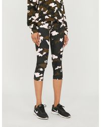The Upside Nyc Forest Camo-print Stretch-jersey leggings - Black