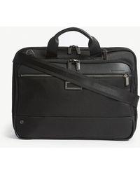 Briggs & Riley Black @work Slim Nylon Briefcase