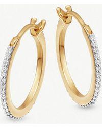 Missoma - 18ct Gold Vermeil Pave Hoop Earrings - Lyst