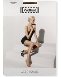 Wolford - Luxe 9 Toeless Tights - Lyst