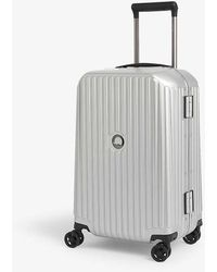 Delsey Securitime Frame Four-wheel Spinner Suitcase 55cm - Metallic