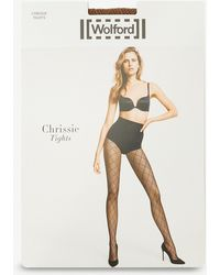 Wolford - Chrissie Diamond-mesh Tights - Lyst