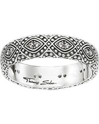 Thomas Sabo Dreamcacther Sterling Silver Ring - Black