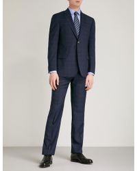 Emporio Armani   Regular-fit Checked Wool Suit   Lyst