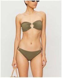 Ted Baker Detachable Halter-neck Bandeau Bikini Top - Green