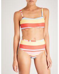 Beautiful Bottoms - Striped Bandeau Bikini Top - Lyst