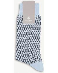 Sunspel - Geometric-patterned Cotton-blend Socks - Lyst
