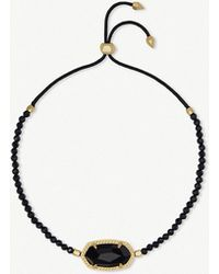 Kendra Scott - Elaina 14ct Yellow Gold-plated And Black Spinnel Bracelet - Lyst