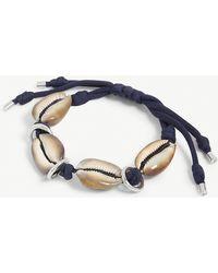 Max Mara Shell And Rope Bracelet - Natural