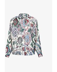Claudie Pierlot Cadeaubis Abstract-print Recycled-polyester Shirt - Multicolor