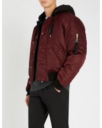 The Kooples - Hooded Shell Bomber Jacket - Lyst