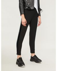 Pinko - Cornice Slim-fit Tapered Crepe Trousers - Lyst