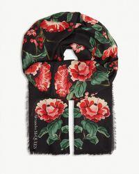 Alexander McQueen - Modal Japanese Floral Scarf - Lyst
