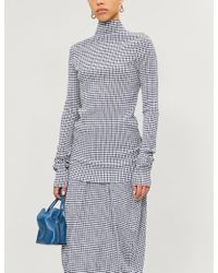 Jil Sander - Checked Woven Top - Lyst