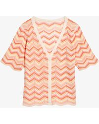 Claudie Pierlot Multito Crochet-detail Woven Top - Pink