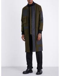 Letasca - Patchwork Wool And Cotton-blend Coat - Lyst