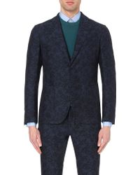 Slowear - Floral-jacquard Single-breasted Jacket - Lyst