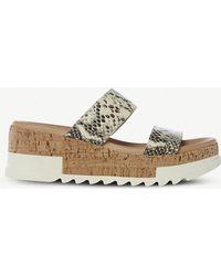 4184c4493cb6 Steve Madden - Blaine Snakeskin-embossed Leather Sandals - Lyst