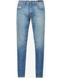 DIESEL - Faded Mid-rise Stretch-denim Jeans - Lyst
