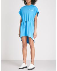 Palm Angels | Side-stripe Jersey Mini Dress | Lyst