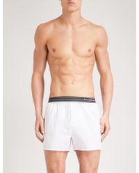 Ermenegildo Zegna - Solid Relaxed-fit Cotton-poplin Boxer Shorts - Lyst