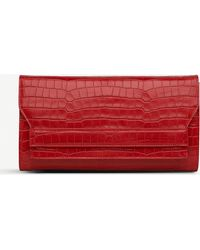 1bdc53a6422 L.K.Bennett Fay Suede Clutch Bag in Red - Lyst