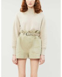 FRAME Relaxed-fit Cotton And Cashmere-blend Sweater - Natural