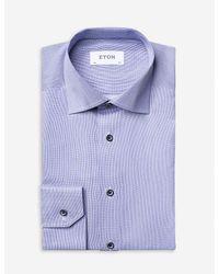 Eton Contemporary-fit Cotton Shirt - Blue