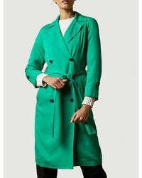 Ted Baker Sophhya Double-breasted Crepe Trench Coat - Green