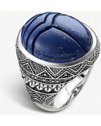 Thomas Sabo Rebel At Heart Scarab Beetle Silver Signet Ring - Metallic